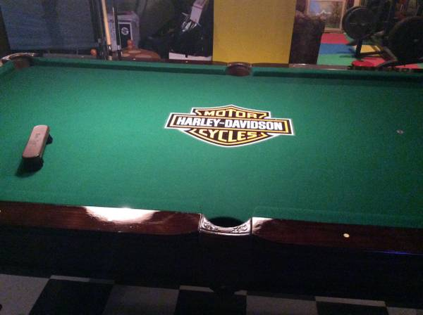 Harley Davidson Pool Table Brand Pendleton Excellent Conditions Includes Lamps And The Whole Kit Cues Er Must Pick Up Move