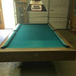 Regulation size Gandy slate pool table