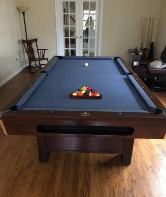 Pool Table-Blue Felt