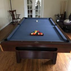 Pool Table-Blue Felt
